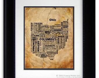 Ohio Wall Art rustic art decor | etsy