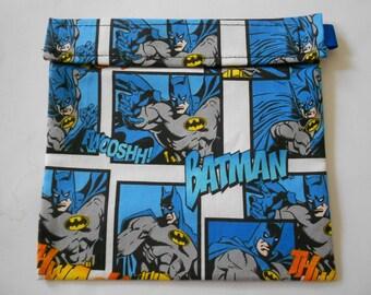 Blue Batman Reusable Sandwich Bag