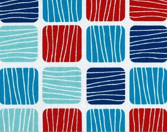 "Robert Kaufman ""Don't be Crabby"" by Laurie Wisbrun Crabby Blocks in Nautical 1 Yard Cut"