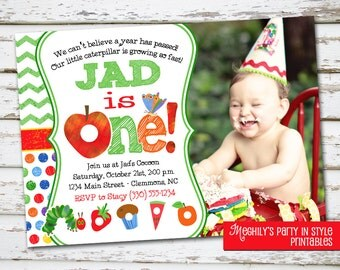 Very Hungry Caterpillar Invite with Photo