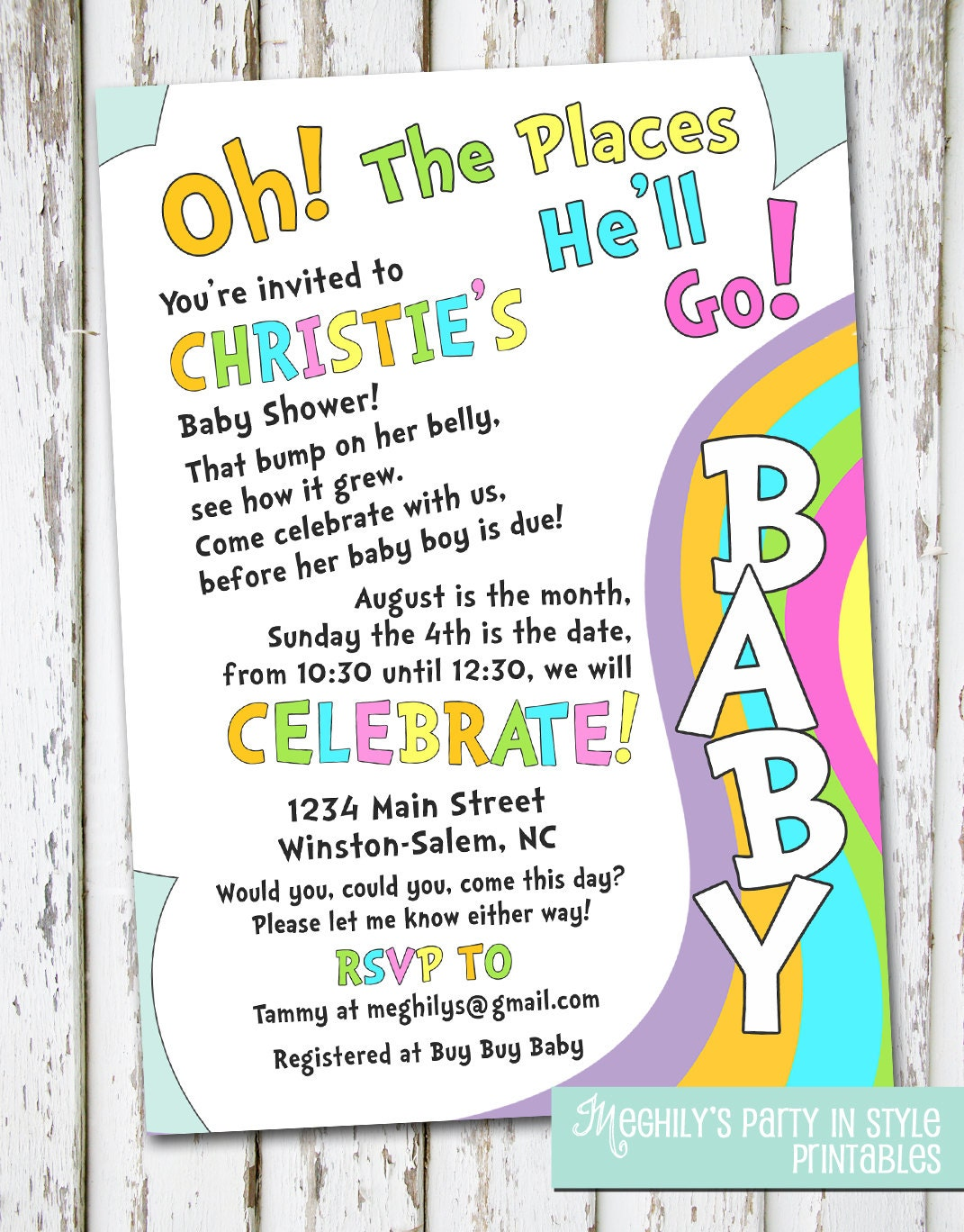 oh the places you'll go baby shower invitation by meghilys, Baby shower