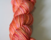 Grapefruit - Ominous 50/50 Merino/Silk Glazed Tonal Sock Yarn