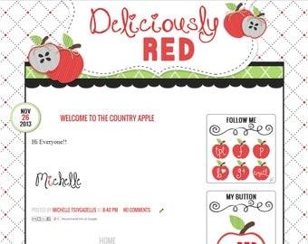 Custom Pre-Made Blog Design: Deliciously Red