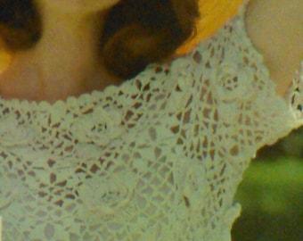 4 (Four) Vintage Women's Irish Crocheted Blouse Patterns