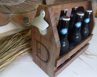 Beer Tote, Beer Caddy, Groomsman Gift, Best Man Gift, Groomsmen Gift,Gift for Groomsmen, Dad Gift
