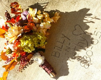 "Custom Order for a Fall ""Natural"" Woodland Bridal Bouquet"