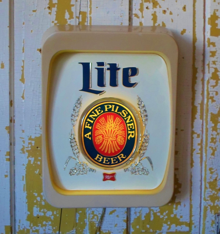 Miller Lite Beer Sign Bar Man Cave Game Room