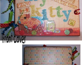 My Kitty Chipboard Album 5 x 7 Bright, Colorful for Boy or Girl Kitty Photos