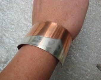 Silver Mountains Cuff Bracelet