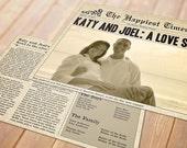 Newspaper Printable Wedding Program