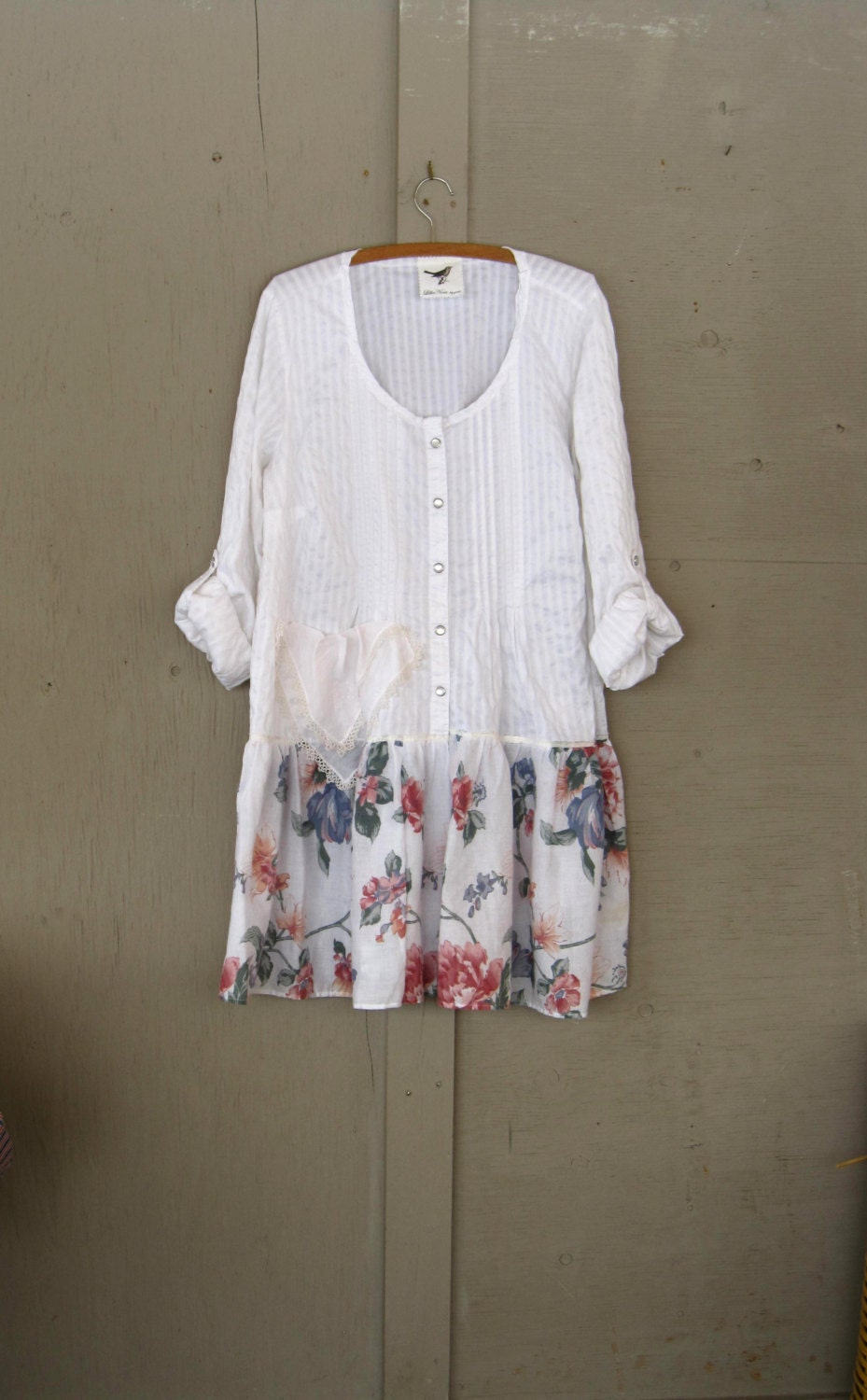 Romantic Bohemian Dress Upcycled Clothing Up Cycled Cowgirl