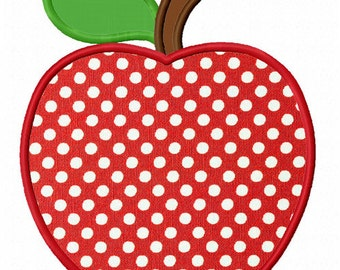 Instant Download Back to School Apple Applique Machine Embroidery Design NO:1356