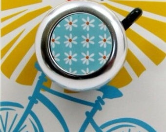 Blue Daisy Bike Bell