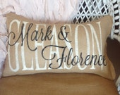 personalized wedding pillow, family name pillow, custom gift, custom wedding gift, personalized pillow, decorative pillow