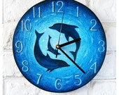 The Dolphins Wall Clock, Ocean Home Decor for Children Baby Kid Boy Girl