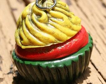 Rasta Cupcake Pendant