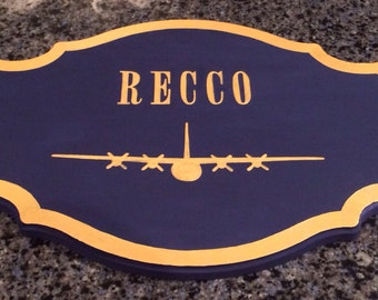 Military Family Name Sign: Large ( C130 pictured )