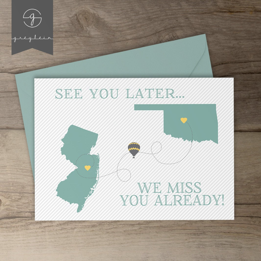 Cute Quotes About Friends Moving Away : Moving away gift card best friend present