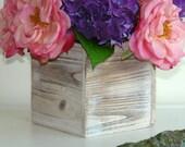 wood boxes woodland planter flower box rustic pot vases wedding wooden boxes rustic hydrangea wedding bouquet arrangement centerpiece
