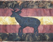 LOG CABIN - Deer - Plate Placers Applique Quilted Placemats PDF E-Pattern