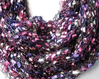 Infinity Scarf, Circle Scarf, Statement Necklace, Purple Scarf, Knit Infinity Scarf, Birthday Gift, Fashion Accessories