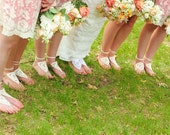 Bridesmaid barefoot sandals - Set of 6 – Barefoot sandals, Crochet Ivory Barefoot sandals, Beach wedding, Lace shoes, Bridesmaids Gifts idea