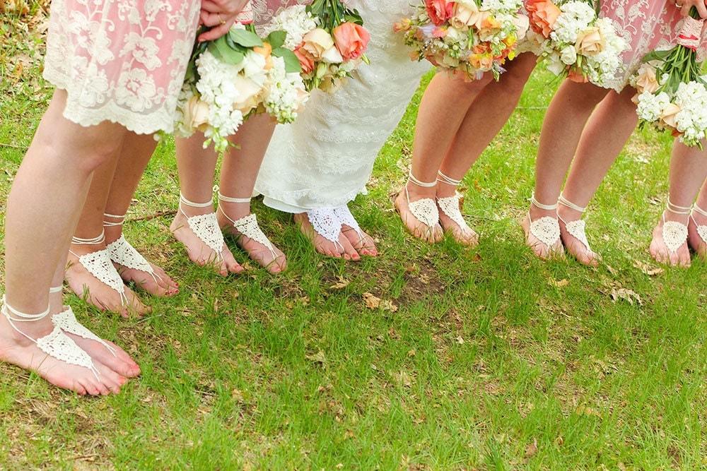 Bridesmaid Barefoot Sandals Set Of 6 Barefoot Sandals