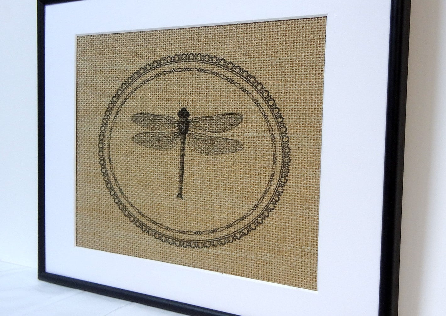 75 Off Sale Dragonfly Burlap Wall Decor By