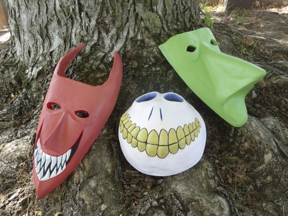 Nightmare Before Christmas Mask Trio by ThePropsShop on Etsy
