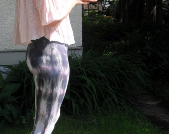 Yoga Leggings Electric Purple Tie Dye