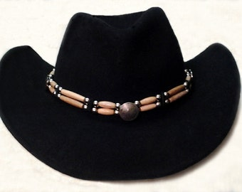 Handmade Hairpipe Hatbands  Custom Genuine Leather, Bone & Horn Hairpipe, Concho hat  bands     Western cowboy hat bands