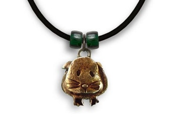 Enamel Hand Painted Guinea PIg Necklace