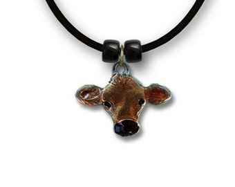 Hand Painted Jersey Cow Necklace