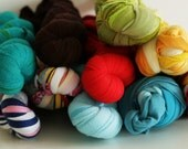 REDUCED TO CLEAR 9 x Recycled Cotton Textile Yarn (100g Skein)