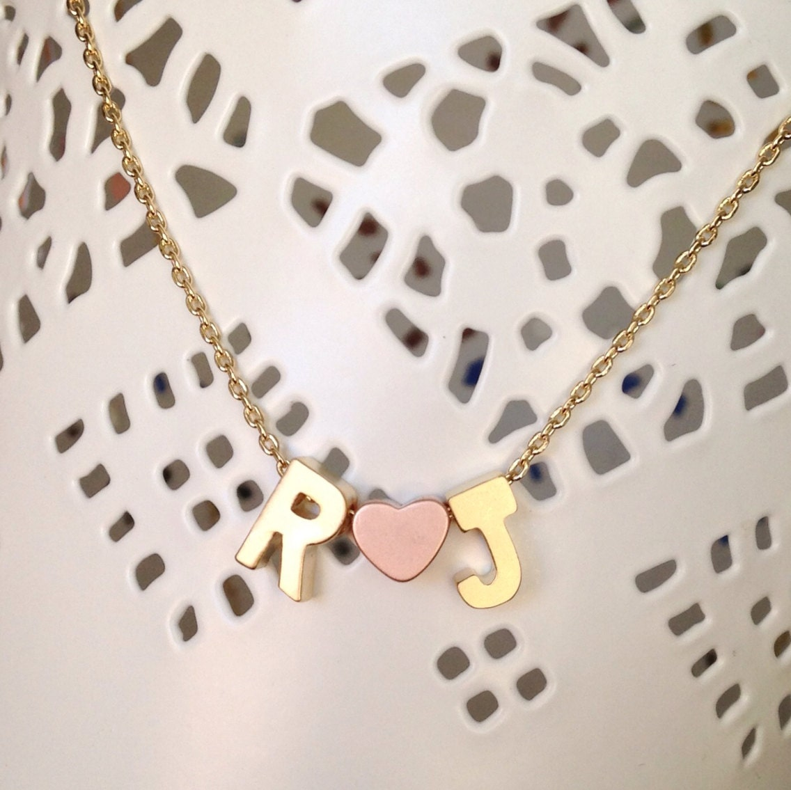 love initial necklace // silver or gold