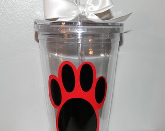 Personalized School  Team  Spirit tumbler  -Any Sport Custom Colors Panthers Wildcats Bears