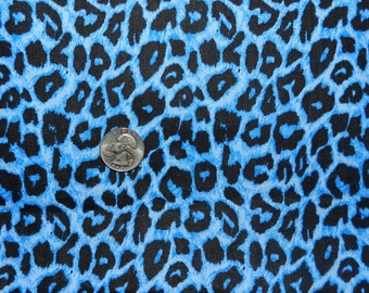Turquoise Cheetah - Fabric By The Yard