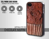 Chocolate Muffin Food Iphone Case Iphone 4 case Hipster Iphone 5 case Iphone 4s case Samsung Galaxy S3 Case Iphone 4 Cover