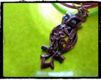 Upcycled vintage owl necklace