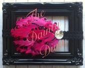 Nagorie Feather Headband - Pink & Black