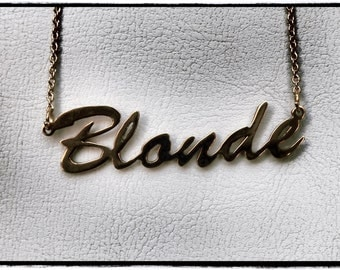 "16"" 'Blonde' necklace (CLEARANCE)"