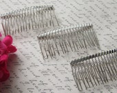 Metal Hair Comb / Metal Comb / Diy hair comb / Veil Comb
