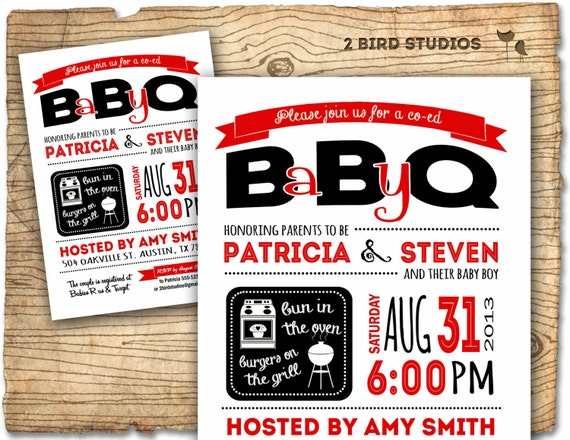 baby q invitation bbq baby shower coed baby shower bbq, Baby shower invitations