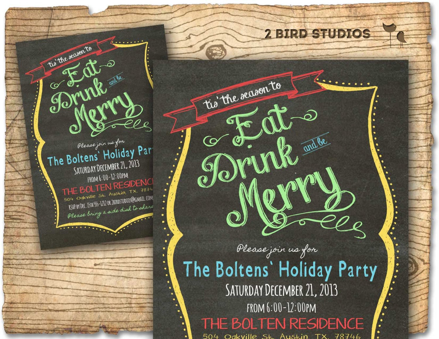 Christmas party invitation Holiday party invitation Adult