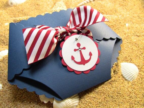 10 Nautical Shower Invitation Cards Diaper Invitation Cards – Diaper Invitation