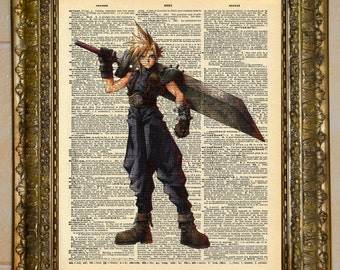 Final Fantasy VII Cloud Strife Dictionary Art