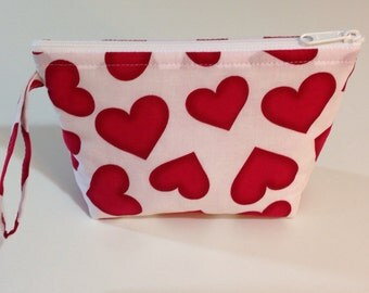 Big Hearts Make Up Bag - Accessory - Cosmetic Bag