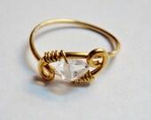 Reserved Listing for Aleda - Herkimer Diamond Ring   Herkimer Ring in 14K Gold Filled    Herkimer Jewelry