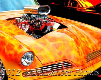Muscle Car, Fine Art Photo, Car Art,  Man Cave, Office Decor, Orange, Garage Art, Hot August Nights, Gifts for Guys, Art for Walls,