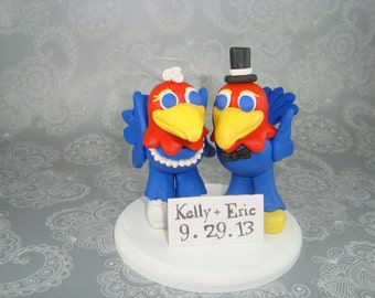 Custom Handmade Jayhawks Wedding Cake Topper